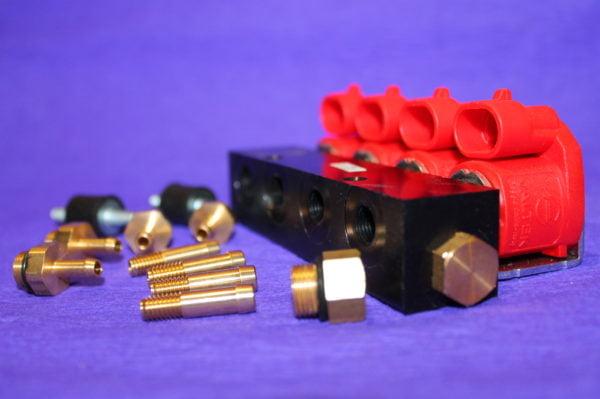 Газові форсунки ALEX (тип Valtek) 30, 4 цил., 3 Ом, зі штуцерами та жиклерами