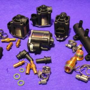 Газові форсунки STAG W-03 4 цил.(в рампі) з жиклерами D1,5 мм та штуцерами в колектор