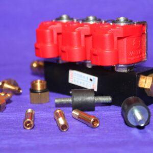 Газові форсунки Valtek 3 цил, 3 Ом зі штуцерами