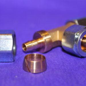 Трійник Т-образний d8 x d8 x d8 mm, для термопластикової трубки