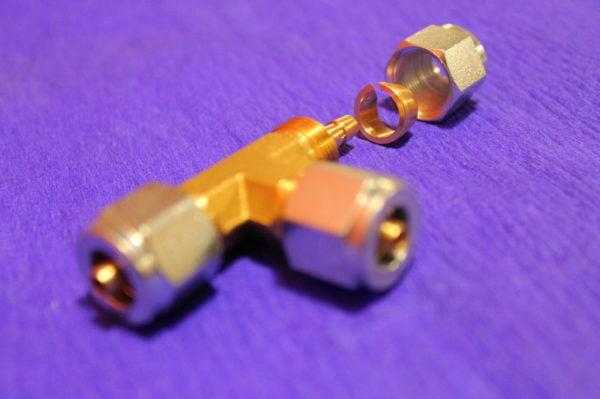 Трійник Т-образний d6 x d6 x d6 mm, для термопластикової трубки