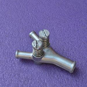 Регістр потужності (гвинт жадібності/дозатор газу) 19×12×12 з 2-м регулюванням (металевий)