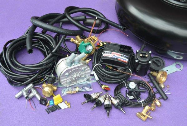 Комплект газового обладнання на 4 пок., 4 цил. Stag-4 Q-Box Basic+KME Silver+Hana