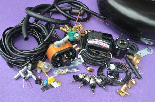Комплект газового обладнання на 4 пок., 4 цил. Stag-4 Q-Box Basic+KME Gold+Hana