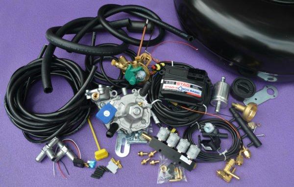 Комплект газового обладнання на 4 пок., 4 цил. Stag-4 Q-Box Basic+ Nordic+Valtek