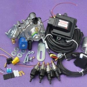 Підкапотна частина газового встановлення на 4 пок., 4 цил. Stag 200-Go Fast на PS-02+Nordic+Barracuda
