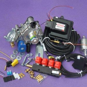 Підкапотна частина газового встановлення на 4 пок., 4 цил. Stag 200-Go Fast на PS-02+Nordic+Atiker