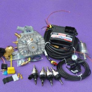 Підкапотна частина газового встановлення на 4 пок., 4 цил. Stag -4 Q-Box Basic+KME Silver+Hana