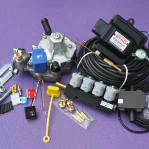 Підкапотна частина газового встановлення на 4 пок., 4 цил. Stag 200-Go Fast на PS-02+Nordic+Valtek