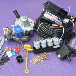 Підкапотна частина газового встановлення на 4 пок., 4 цил. Stag-4 Q-Box Basic на PS-02+ Nordic+Valtek