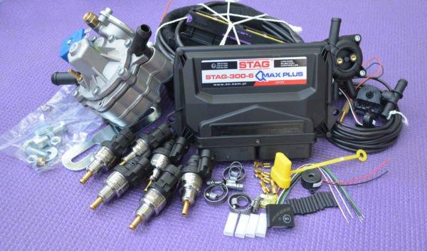 Підкапотна частина газового встановлення на 4 пок., 6 цил. Stag Q-Max Plus+Nordic XP+Barracuda