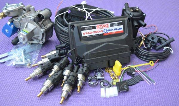 Підкапотна частина газового встановлення на 4 пок., 8 цил. Stag-300 Q-Max Plus+Antartic Super+Barracuda