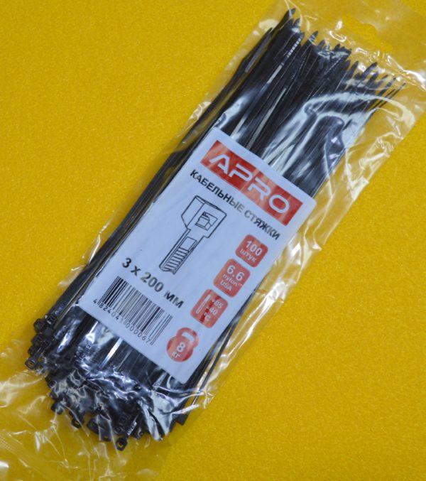 Хомут (стяжка) пластиковий APRO 3*200 мм