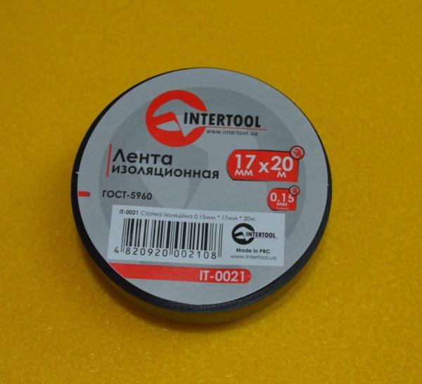 Ізоляційна стрічка (ізолента),17мм*20м, Intertool