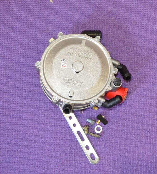 Редуктор Atiker VR01 (пропан-бутан) 2 пок., електронний, 120 к.с. (90 кВт), вх. D6 (M10x1), вих. D19