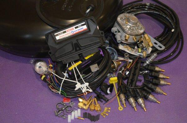 Комплект газового обладнання на 4 пок., 8 цил. (Stag-300-8 QMax Basic, KME Silver,  Barracuda Single)