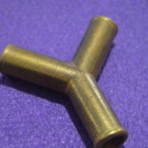 Трійник газовий Y-подібний 12х12х12 (латунь)