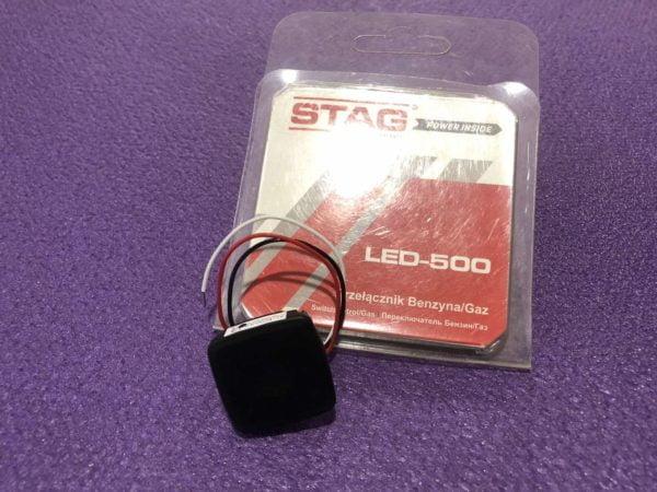 Перемикач (кнопка) газ/бензин LED-500  для систем STAG