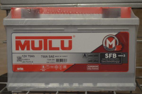 Автомобільний акумулятор MUTLU LB3.75.072.A R