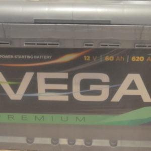 Автомобільний акумулятор Vega Premium 6CT-60Ah 620A R (h=175)